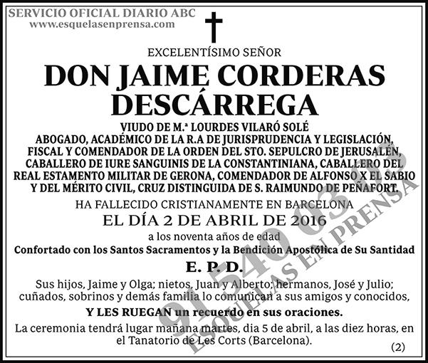 Jaime Corderas Decárrega